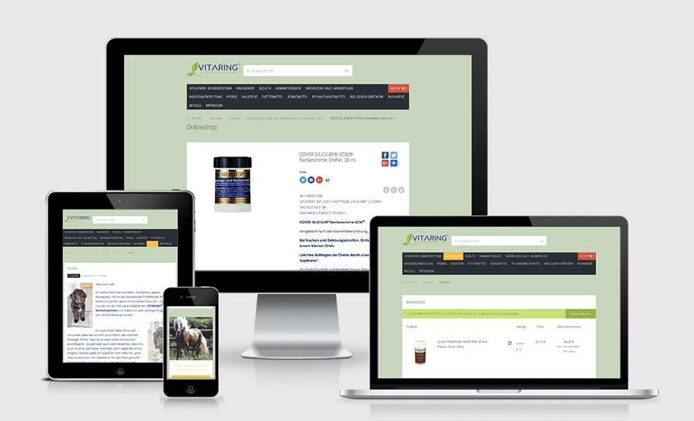 vitaring.info | WordPress-Seite mit Onlineshop