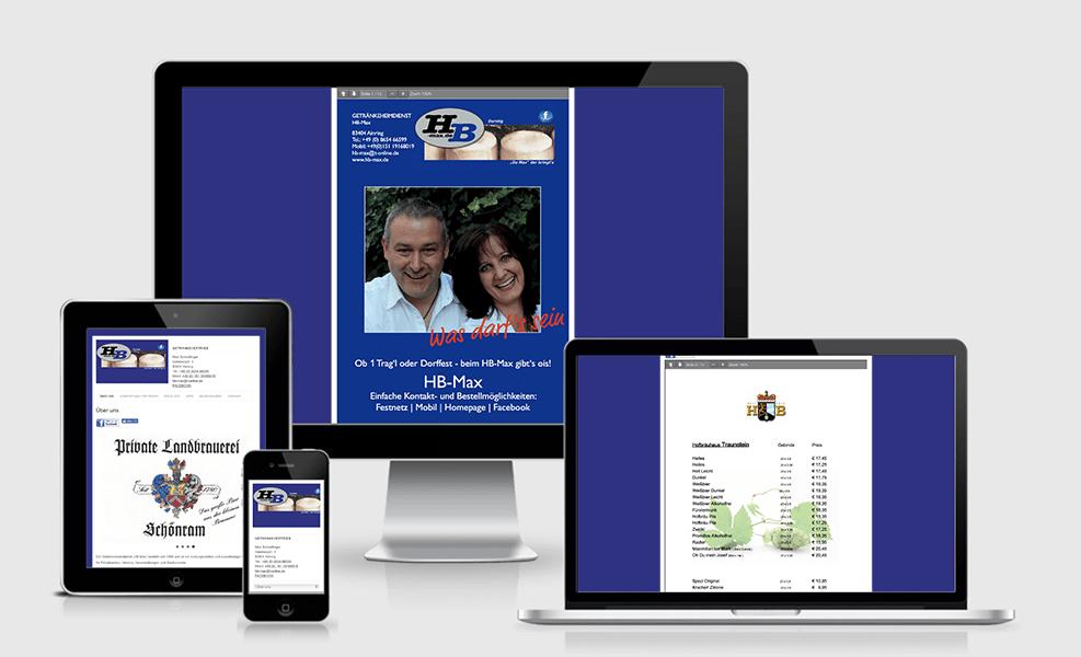 HB Max Getränkeservice | WordPress-Seite
