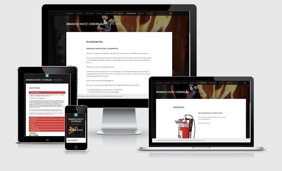 Brandschutz Chiemgau | WordPress-Seite