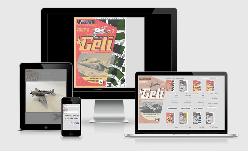 GELI-Modellbau | WordPress Seite | Onlineshop