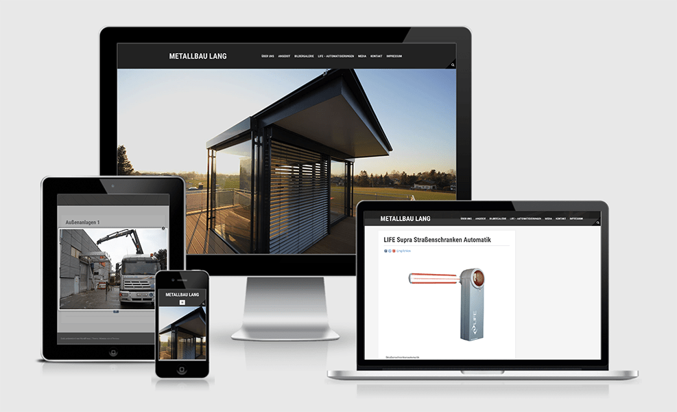 Metallbau Lang | WordPress-Seite